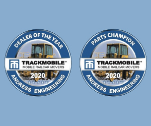 2020 Trackmobile Dealer of the Year and Parts Champion